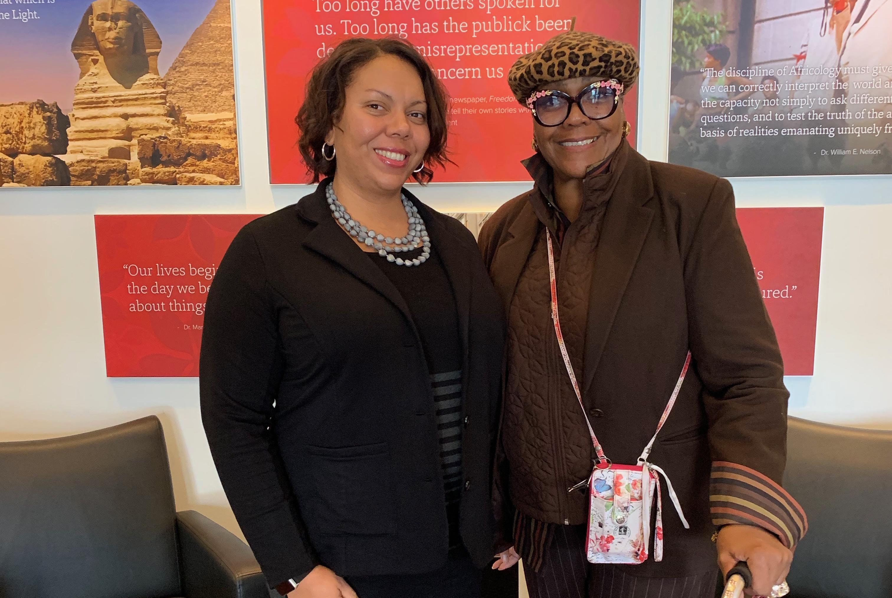 Dr. Simone Drake (left) with a colleague