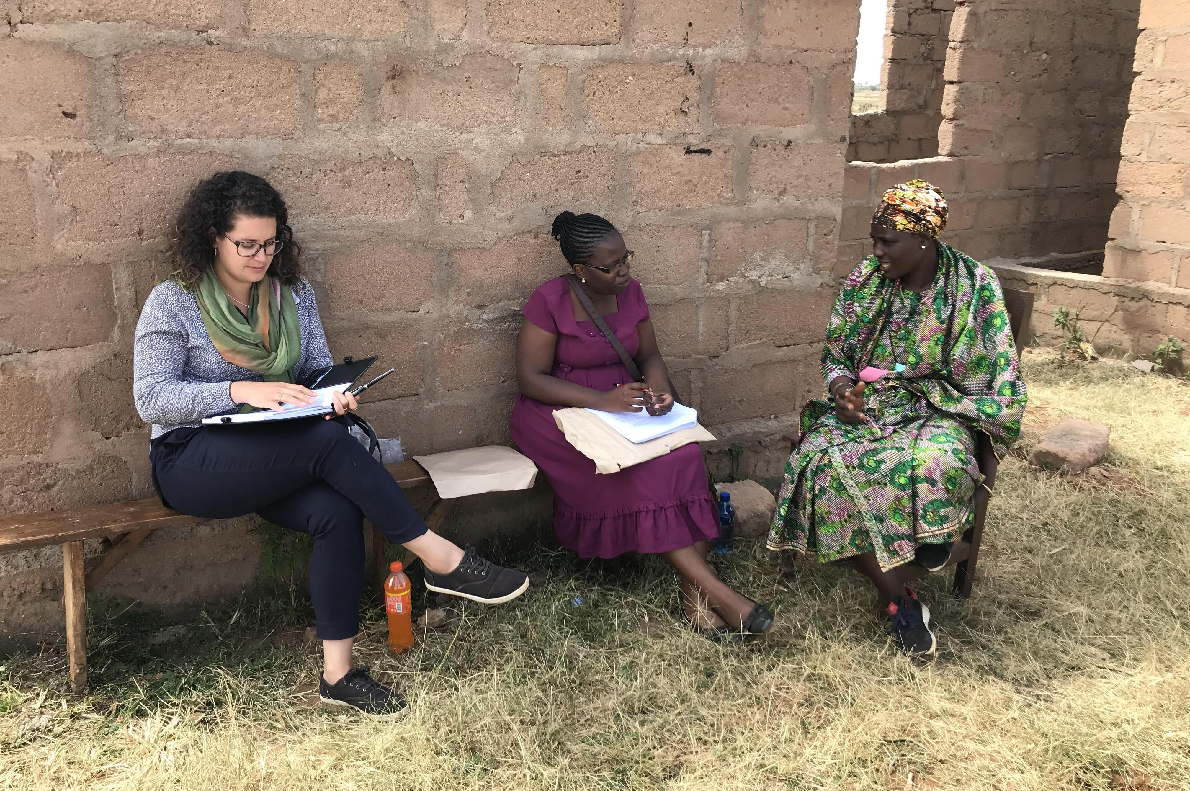 Mary Rodriguez works with community partners in Tanzania to collect data about agricultural needs in an arid area of the country.