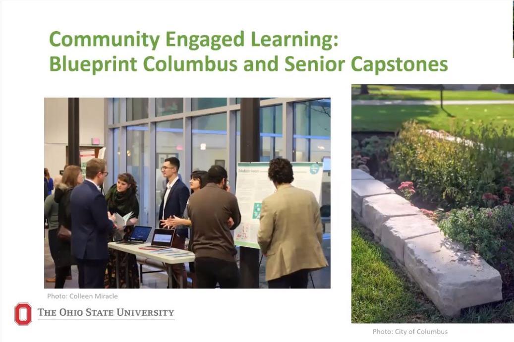 Image of zoom meeting for Blueprint Columbus partnership