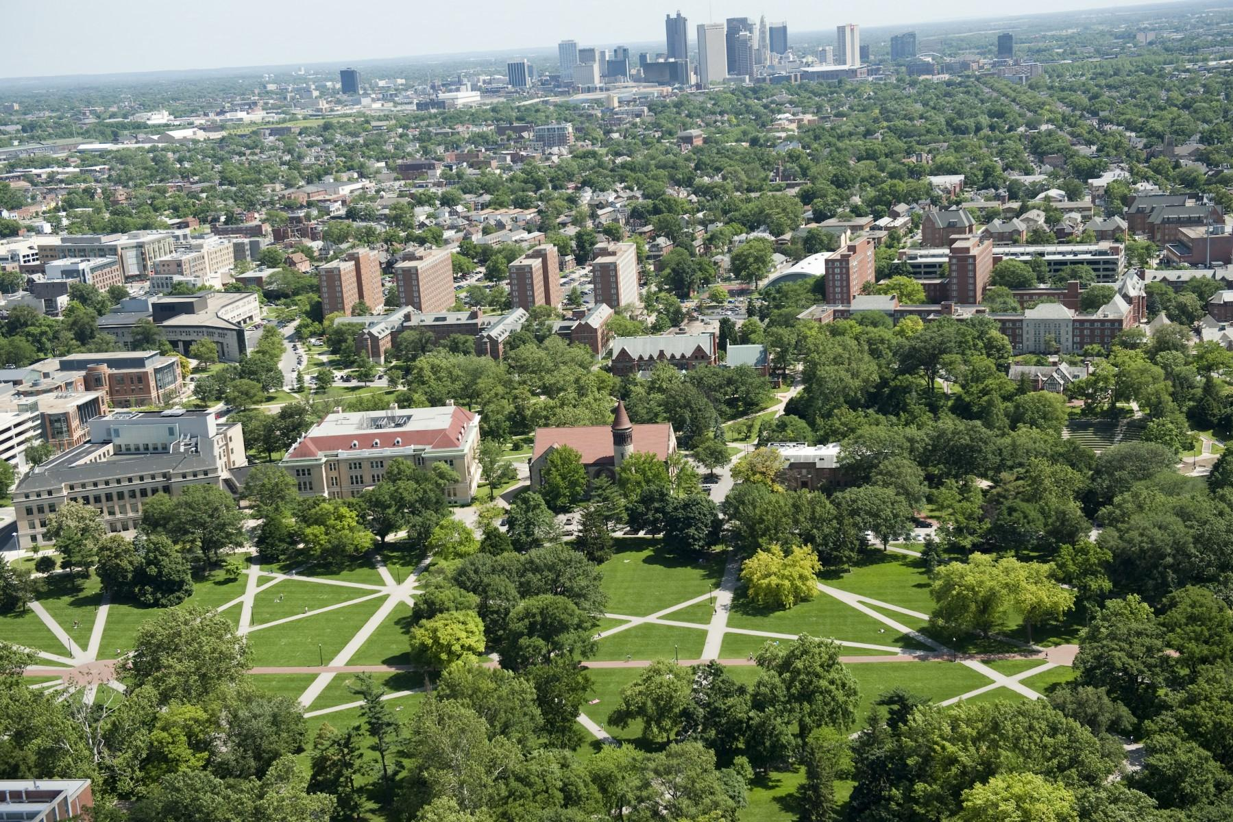 Photo of campus and the city